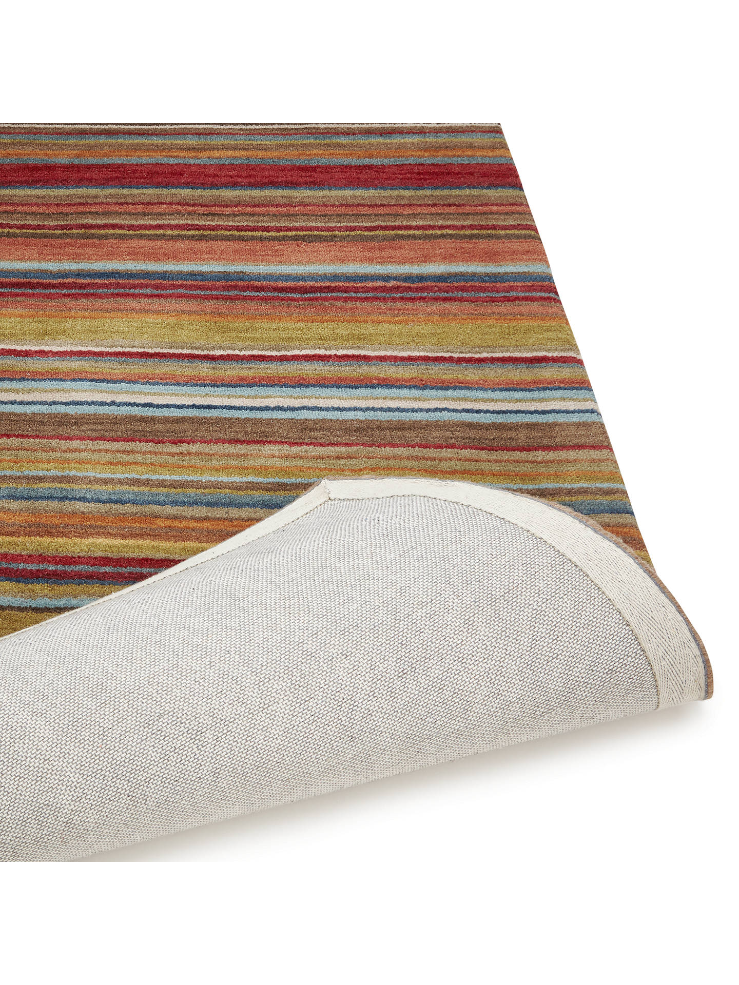Buy John Lewis & Partners Russet Multistripe Rug, L120 x W60cm Online at johnlewis.com
