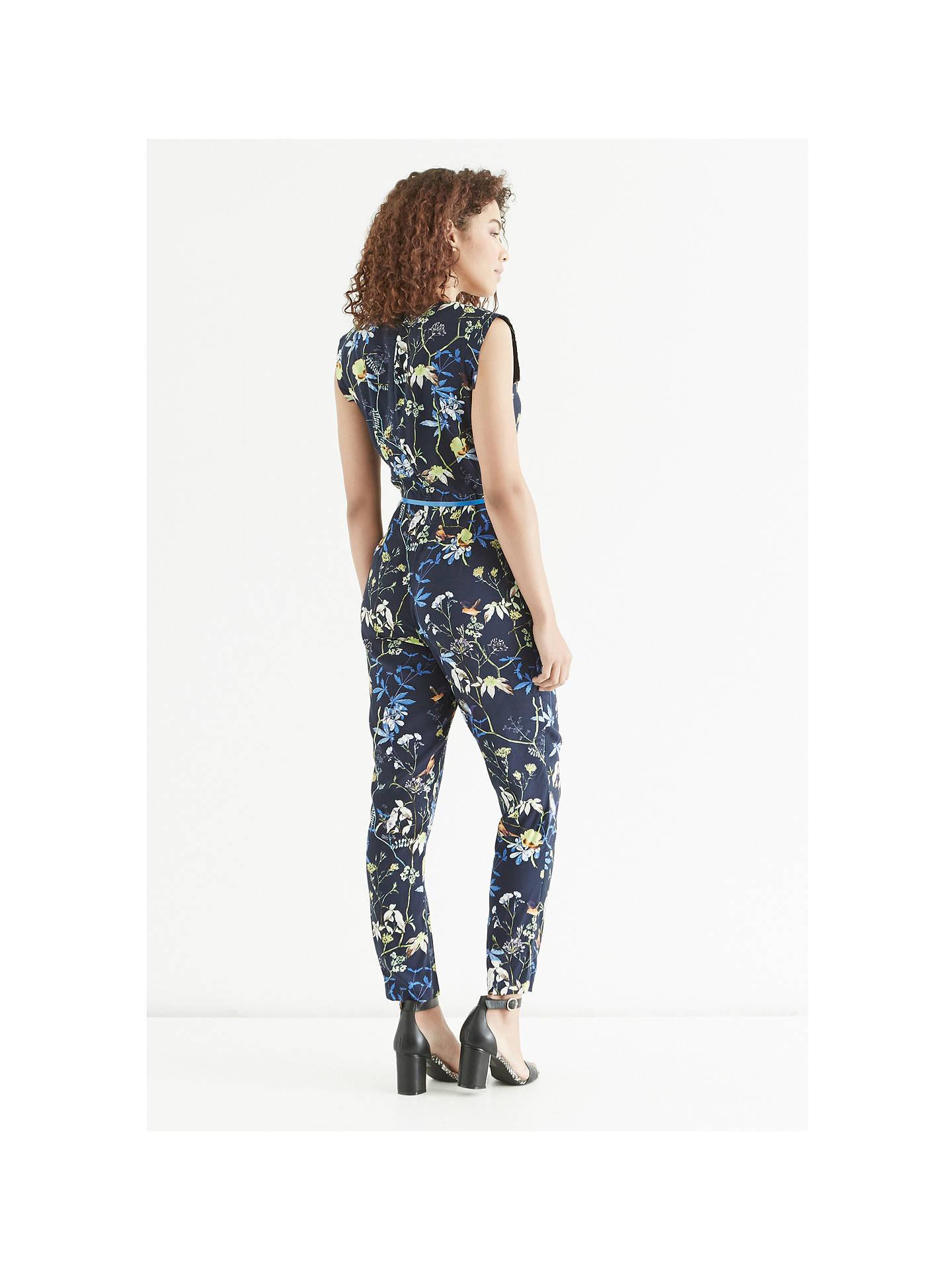 feb18b24c2ef ... Buy Oasis Midnight Bird Jumpsuit, Navy, 8 Online at johnlewis.com ...