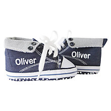Buy My 1st Years Personalised High Top Trainers, Blue Online at johnlewis.com