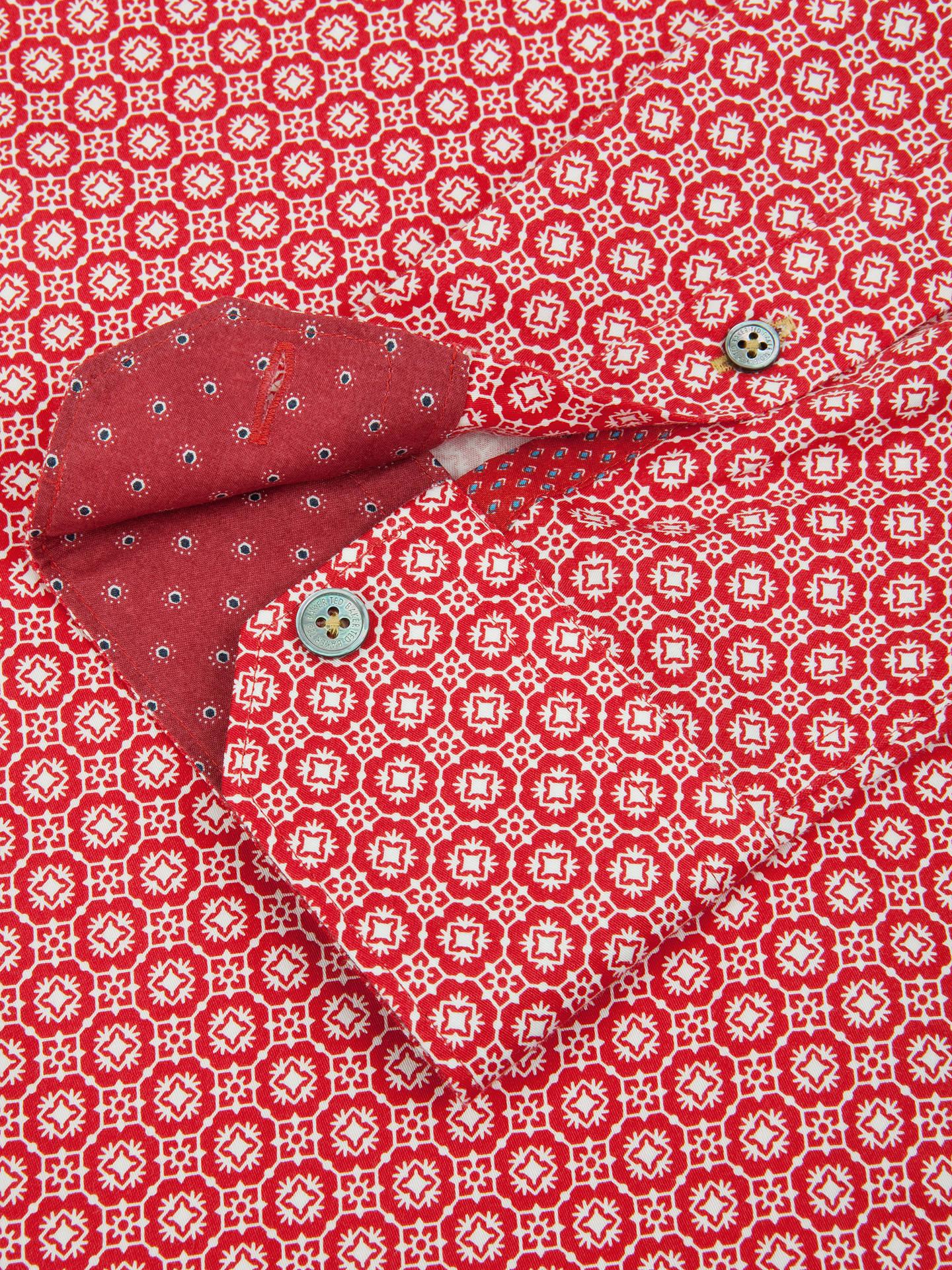 d13d96e07d8206 Ted Baker Rumple Print Long Sleeve Shirt at John Lewis   Partners