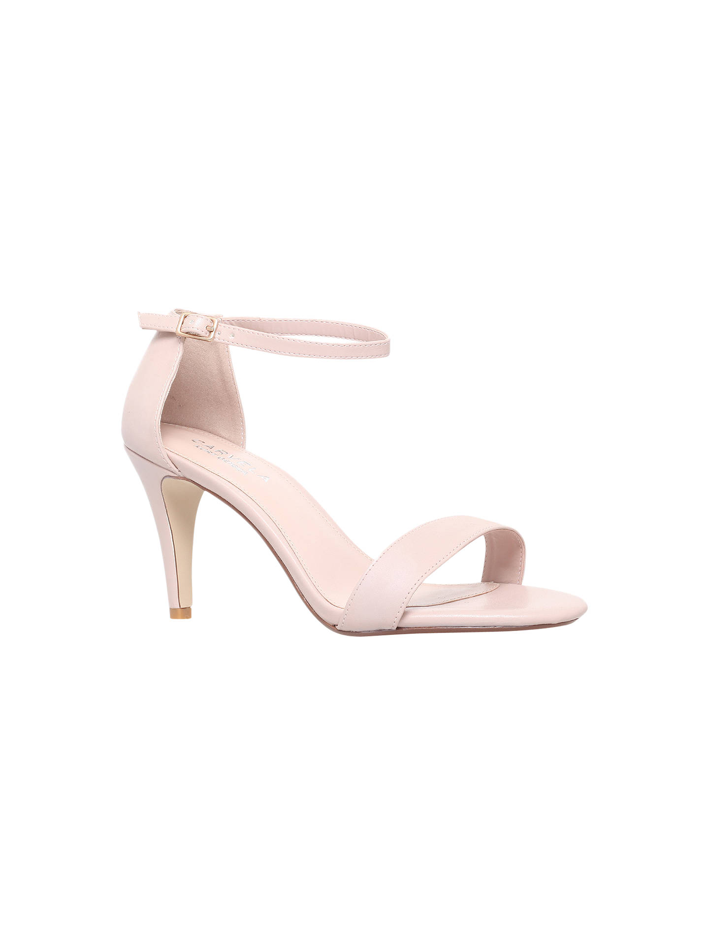 86a86d3e0a Buy Carvela Kiwi Barely There High Heel Sandals, Nude, 3 Online at  johnlewis.