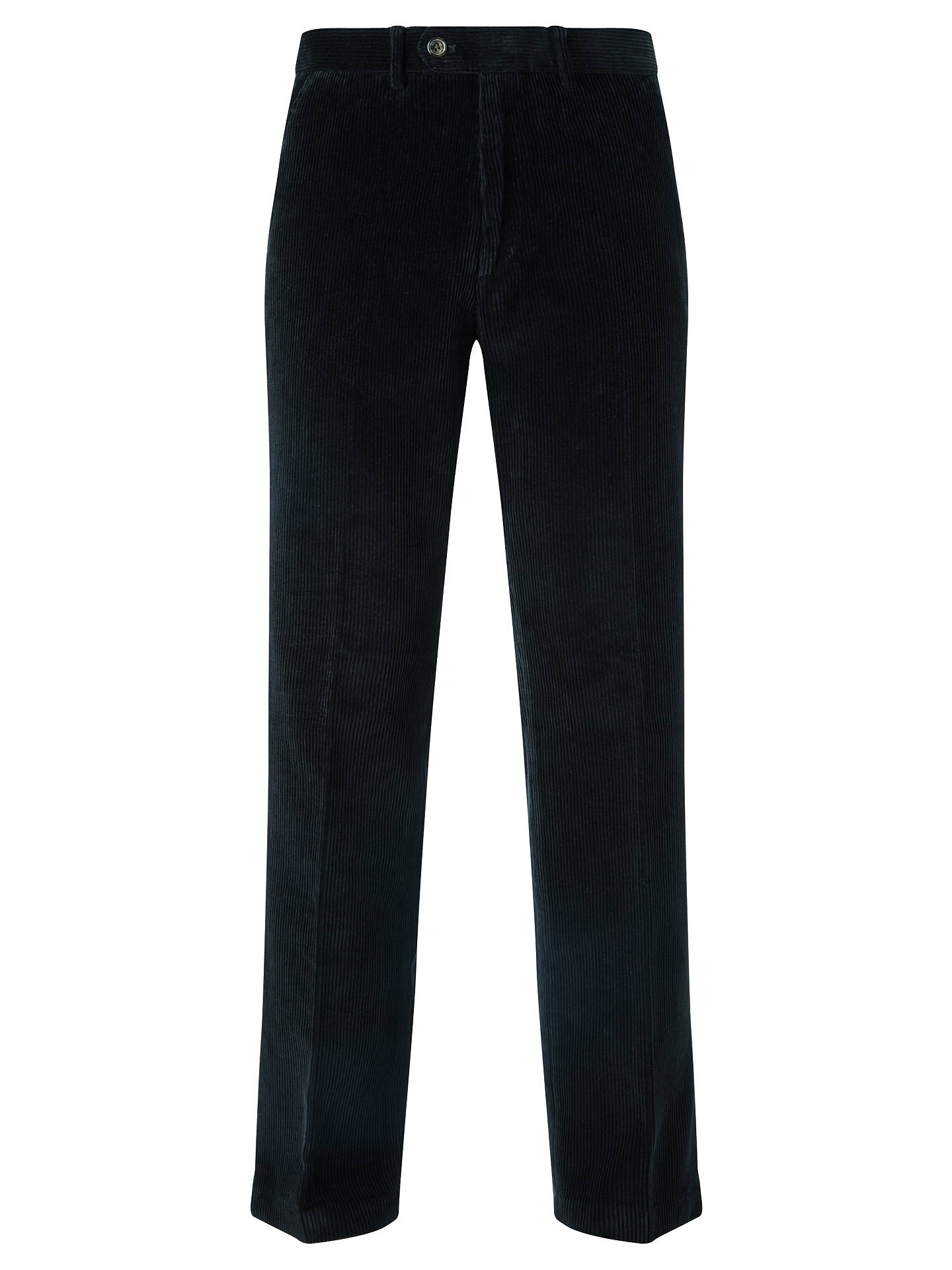 Buy John Lewis Laundered Cotton Corduroy Trousers, Dark Navy, 34L Online at johnlewis.com