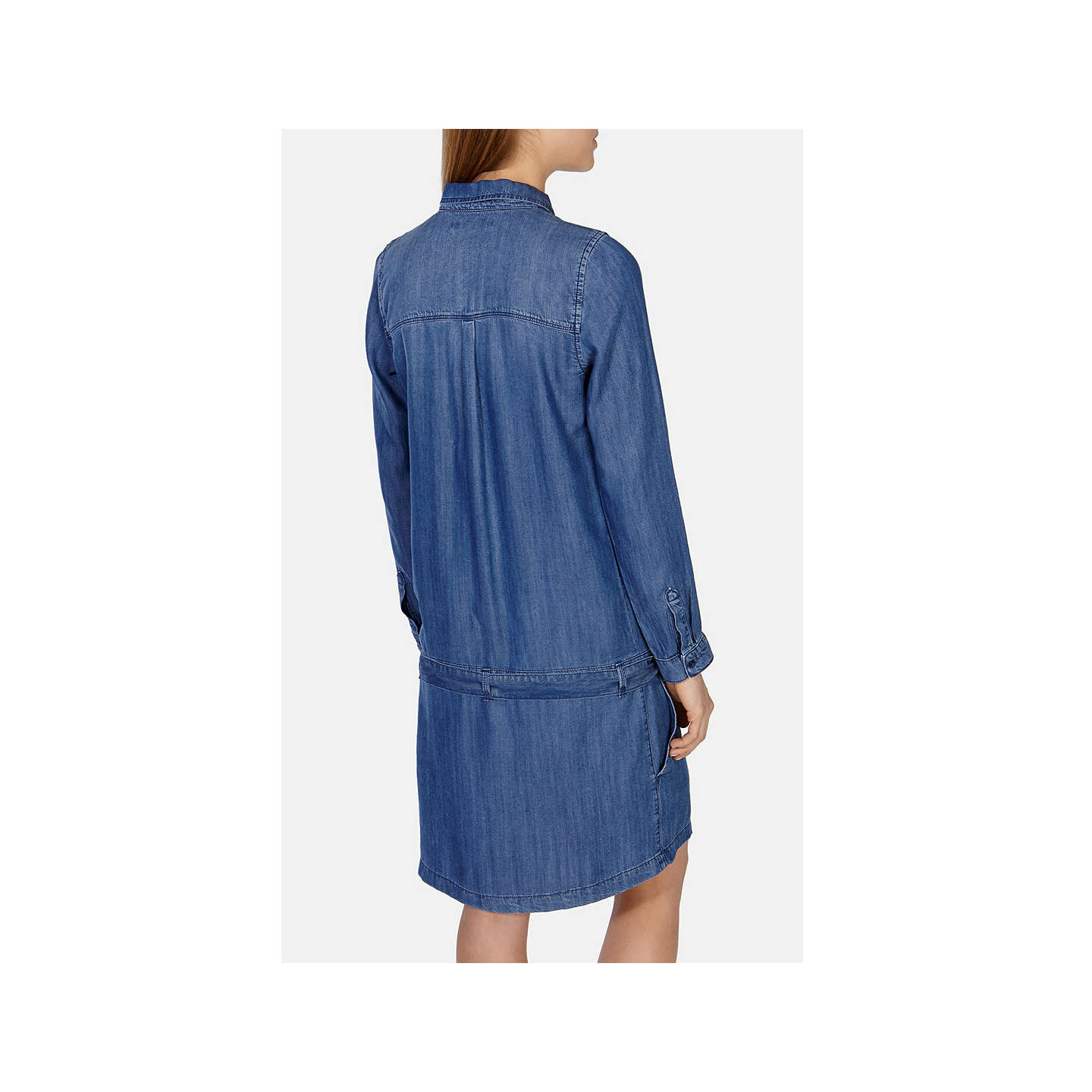 BuyKaren Millen Soft Denim Shirt Dress, Dark Blue, 6 Online at johnlewis.com