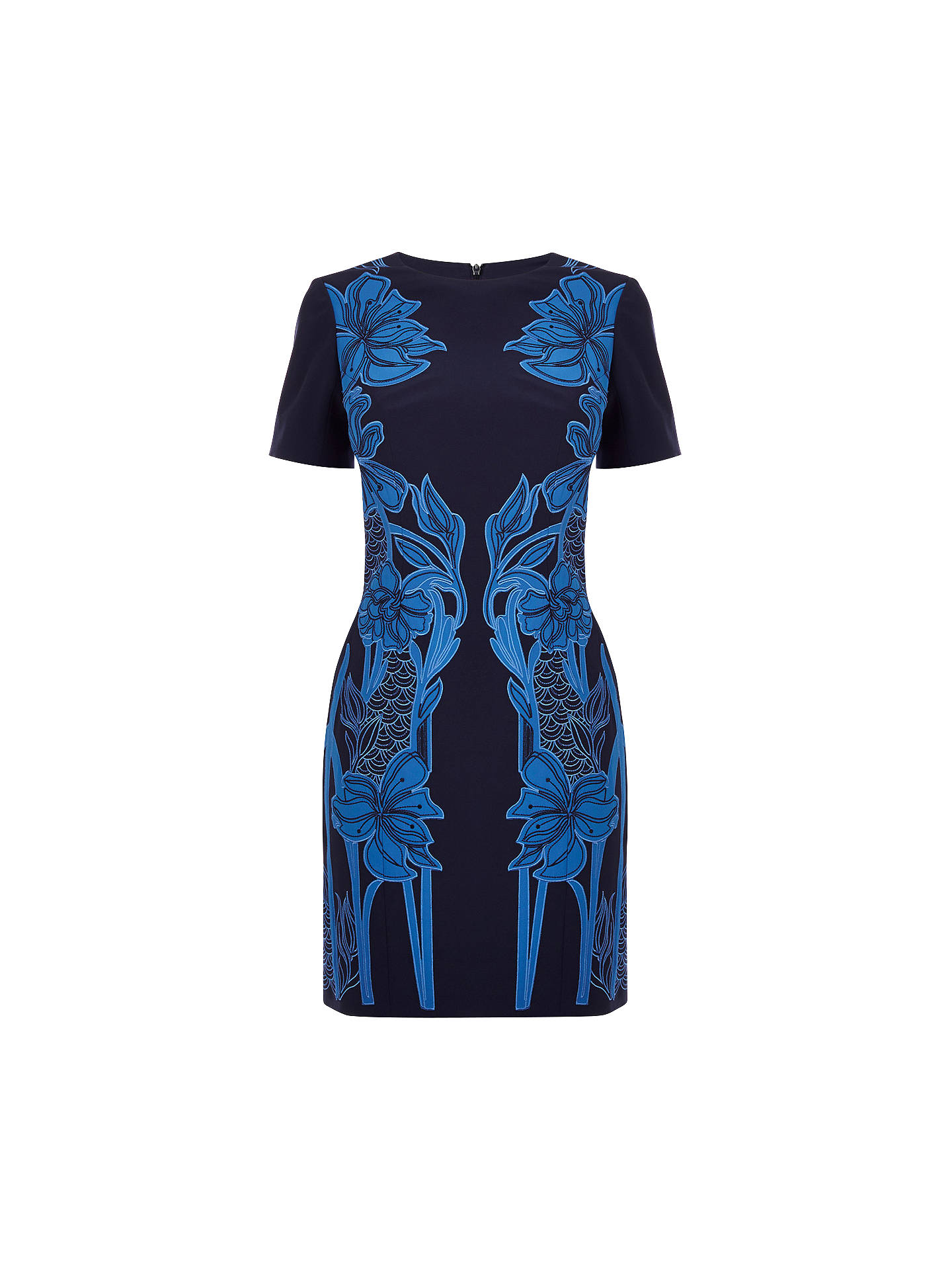 22107463a74 ... where to buy buykaren millen floral applique dress blue multi 6 online  at johnlewis d3e38 c70ca