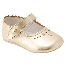 Buy Start-Rite Baby Elizabeth Leather Shoes, Gold Online at johnlewis.com