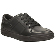 Buy Clarks Chad Rail Lace Up Leather Shoes, Black Online at johnlewis.com