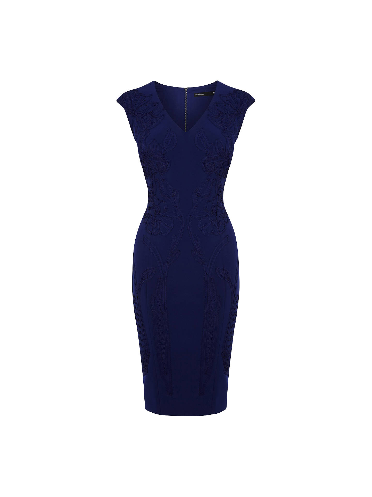 fdb435c0a80 ... discount code for buy karen millen floral applique dress blue 6 online  at johnlewis 0bcb0 cb085