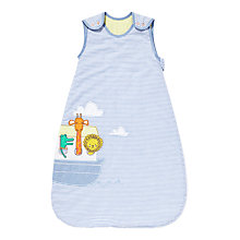Buy John Lewis Noah's Ark Baby Sleep Bag, 2.5 Tog, Blue Online at johnlewis.com