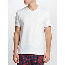 Buy John Lewis Jersey V-Neck Cotton T-Shirt, White Online at johnlewis.com