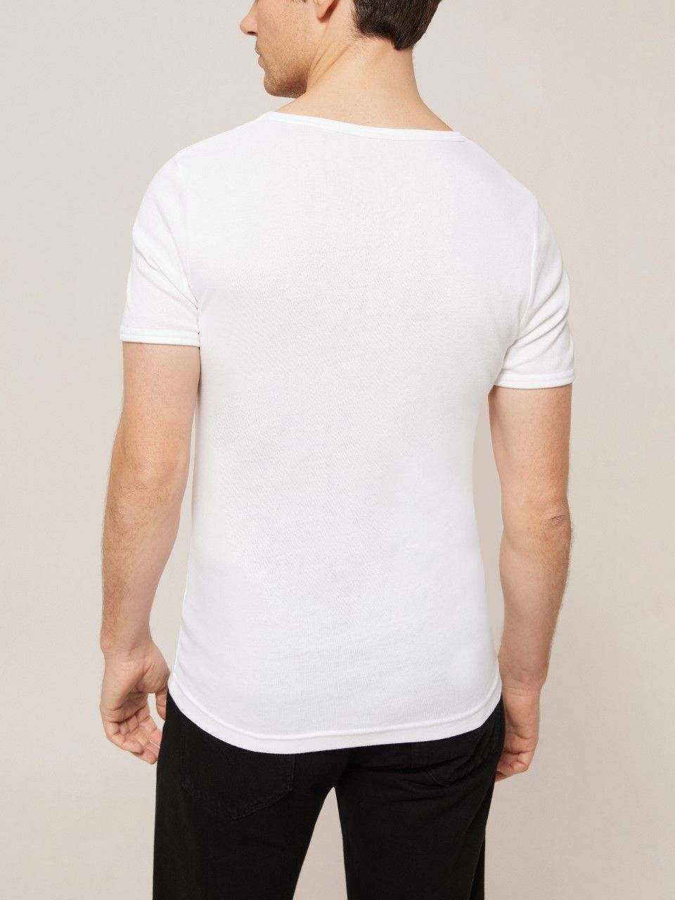 John Lewis & Partners John Lewis & Partners Organic Cotton T-Shirt Vest, Pack of 2, White