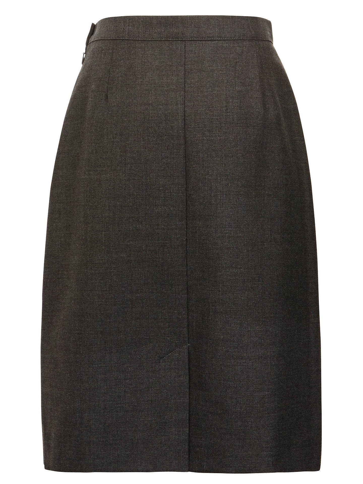 Buy School Wool Mix Inverted Pleat Skirt, Grey, 11 years Online at johnlewis.com