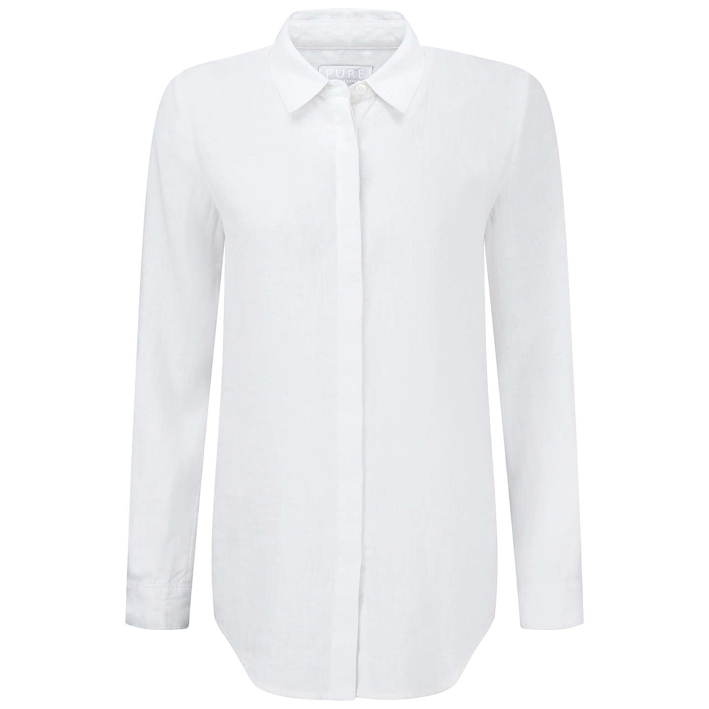 BuyPure Collection Laundered Linen Shirt, White, 8 Online at johnlewis.com
