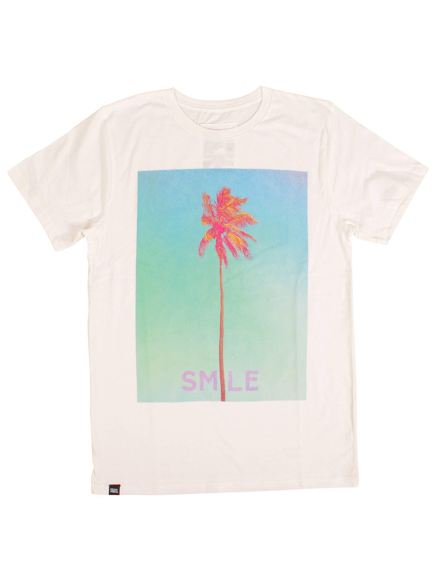 4410ca4c8 Dedicated Smile Palm Graphic Design T-Shirt, White at John Lewis ...