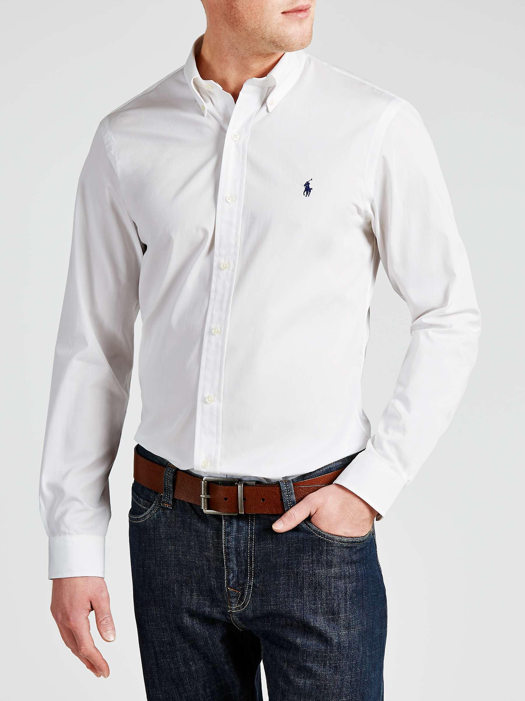 Polo Ralph Lauren Slim Fit Cotton Poplin Shirt, White