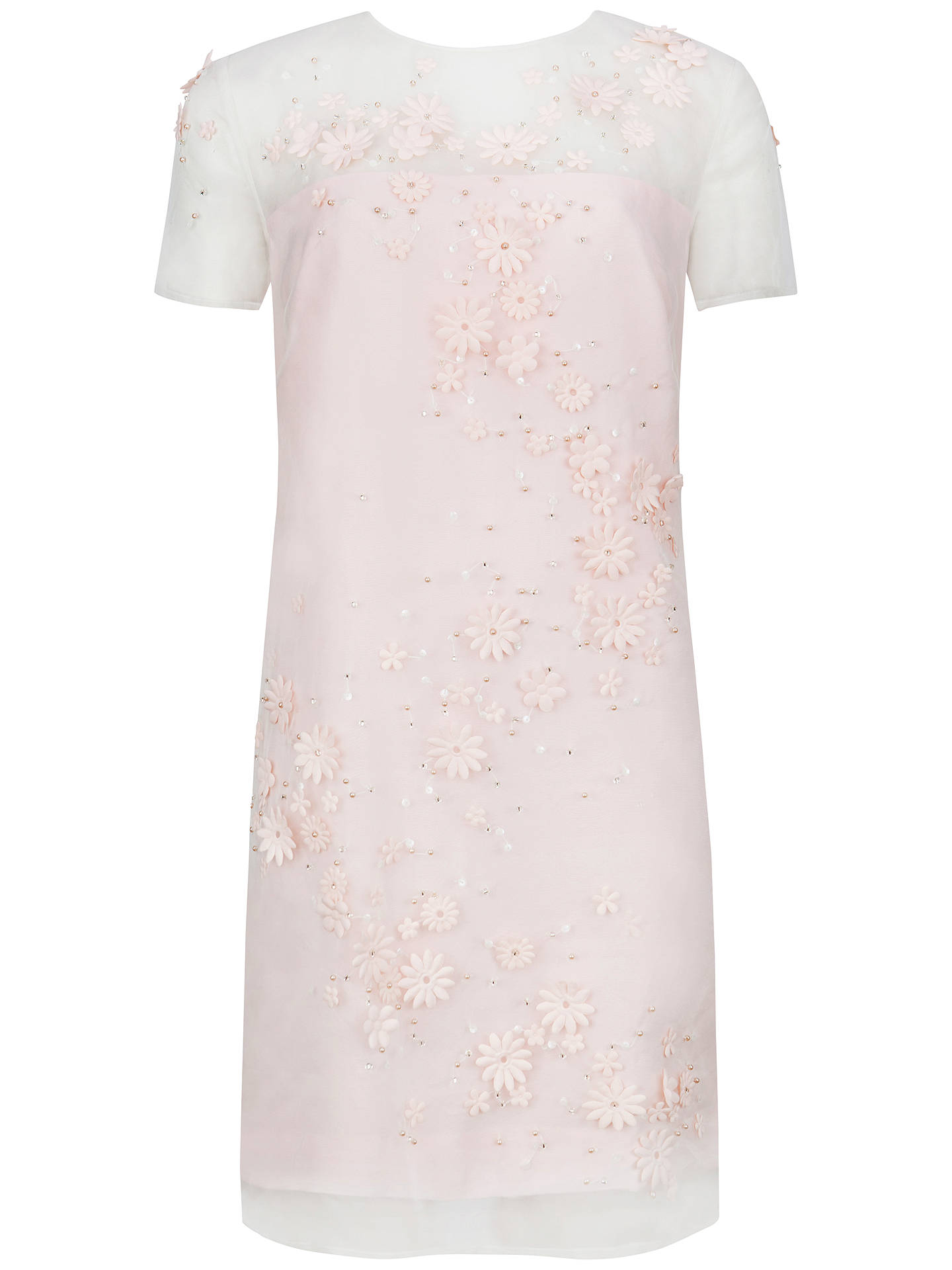 nude shoes white pink floral dress