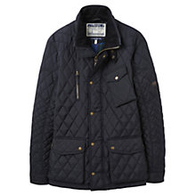 Buy Joules Stafford Quilted Jacket, Navy Online at johnlewis.com