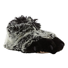 Buy John Lewis Gorilla Claw Slipper Boots, Grey Online at johnlewis.com