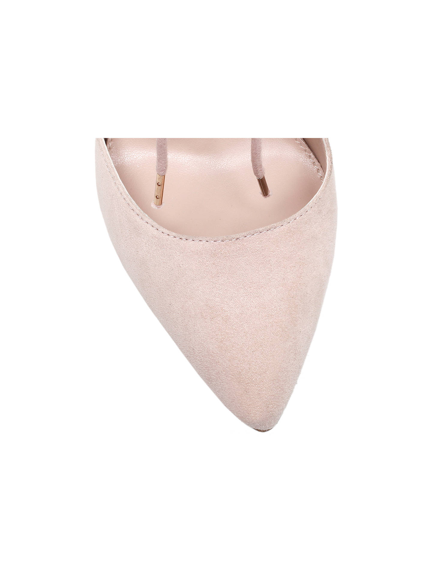 Buy Carvela Gordon Lace Up Cut Out Court Heels, Nude, 3 Online at johnlewis.com