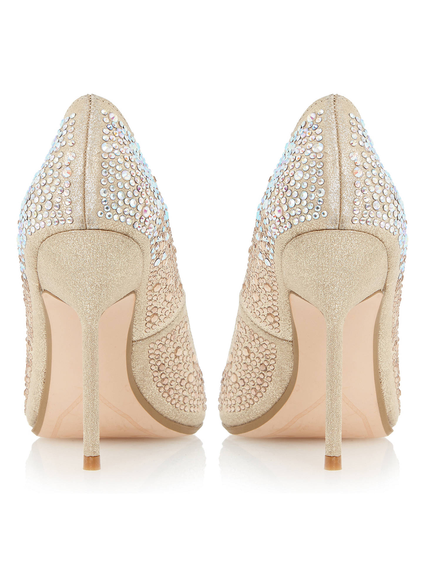05882ba93f ... Buy Dune Beautie Embellished Stiletto Court Heels, Gold, 3 Online at  johnlewis.com ...