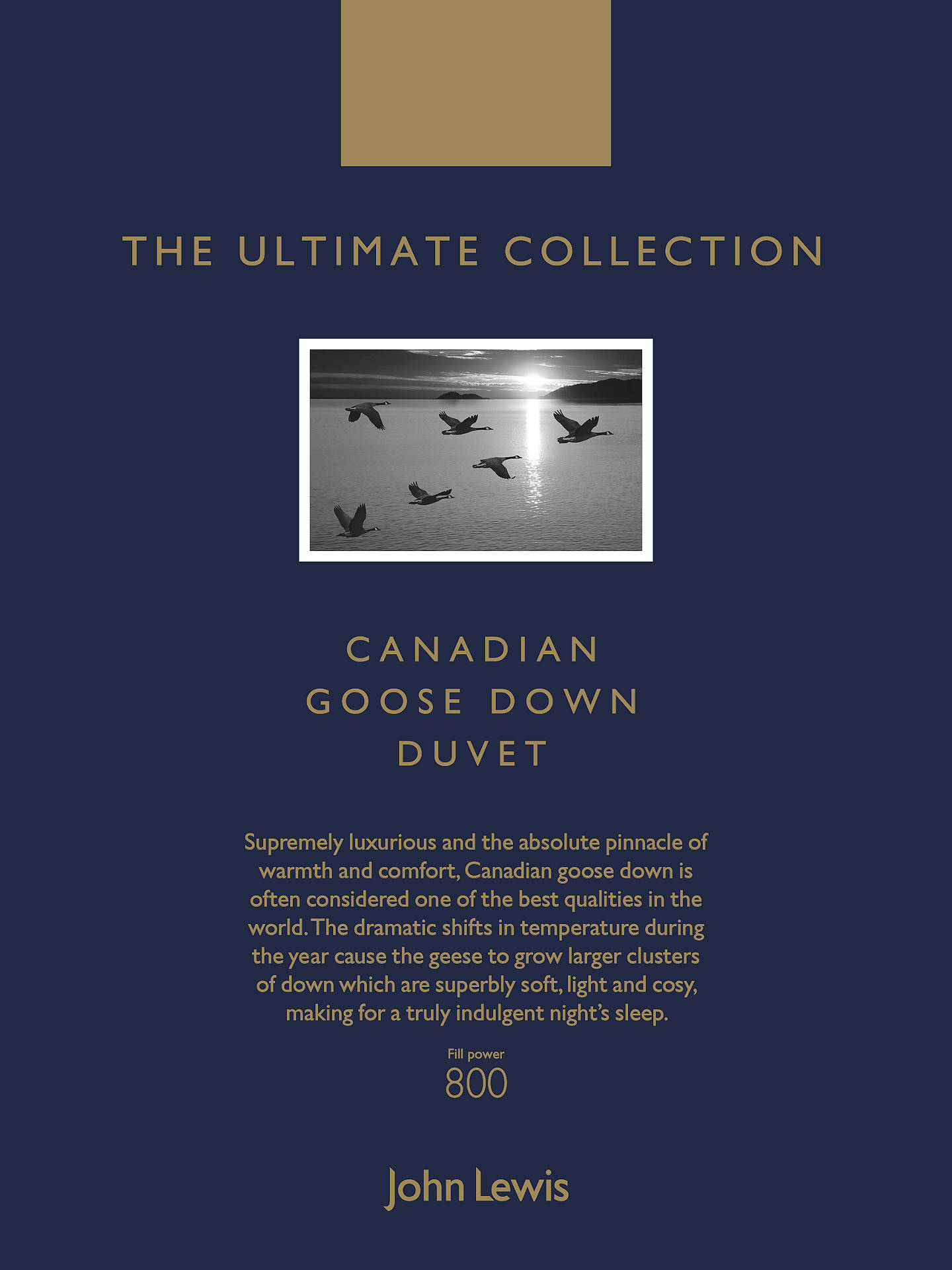BuyJohn Lewis & Partners The Ultimate Collection Canadian Goose Down Duvet, 9 Tog, Double Online at johnlewis.com