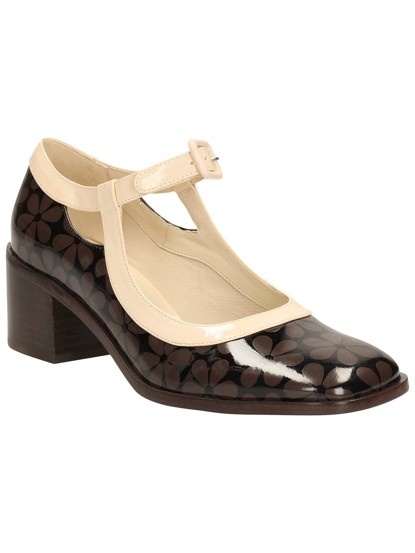 458bcd691feb Clarks Orla Kiely Amelia Leather Court Shoes at John Lewis   Partners