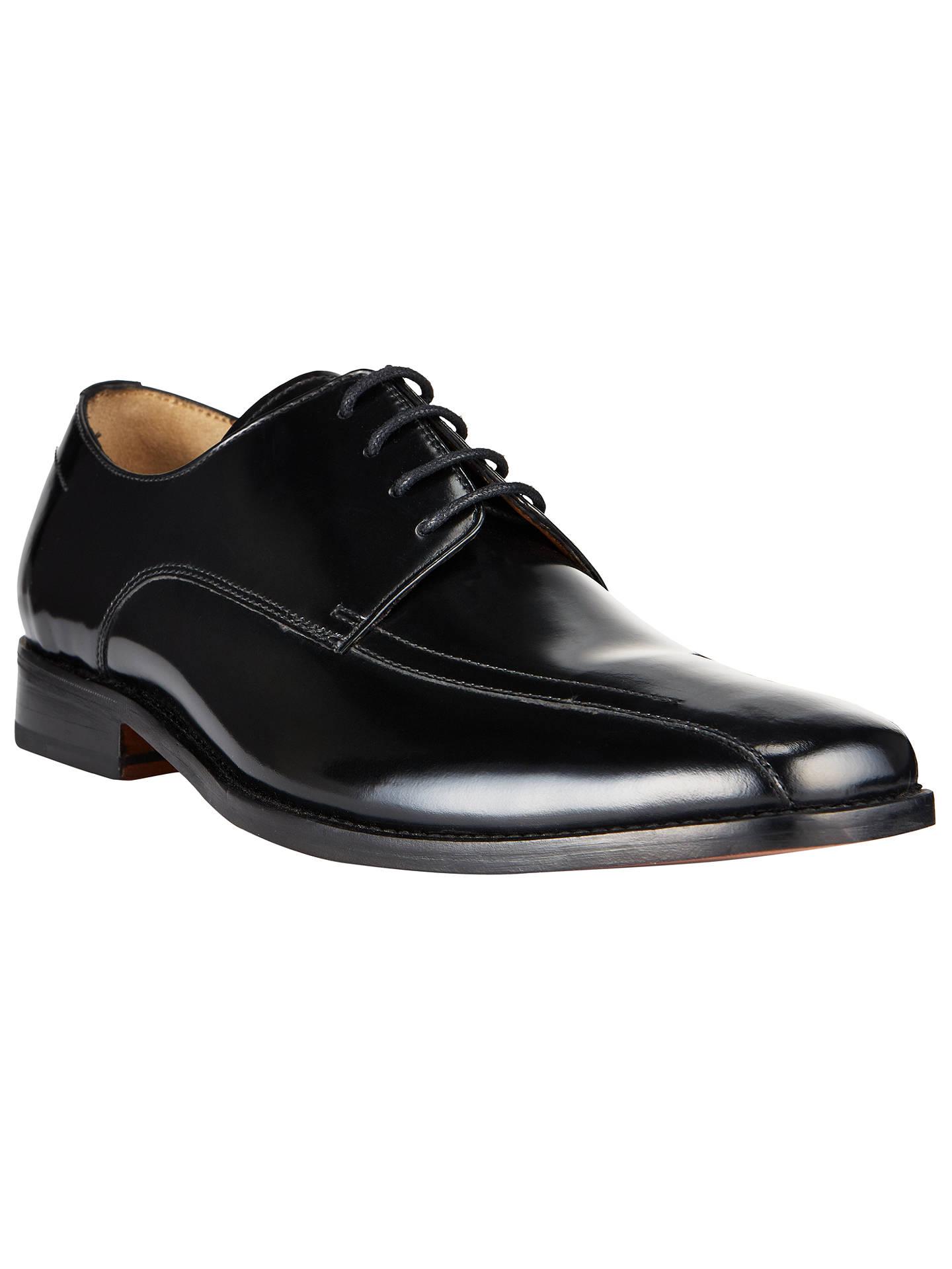 f23b67f64af8 Buy John Lewis Albert Tramline Leather Derby Shoes, Black, 7 Online at  johnlewis.