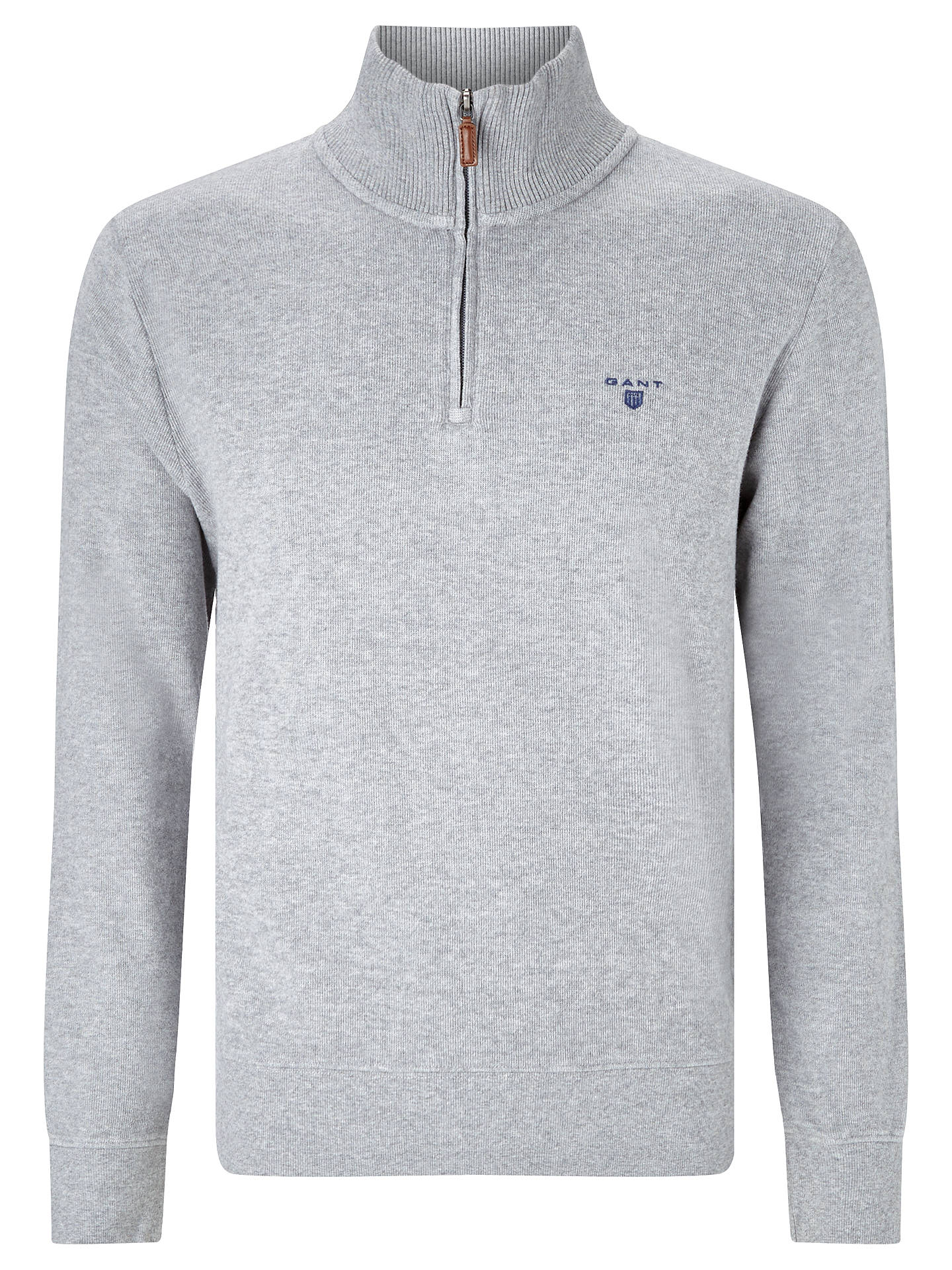 pretty nice 2d55b d27bd Gant Sacker Half-Zip Jersey Top at John Lewis & Partners