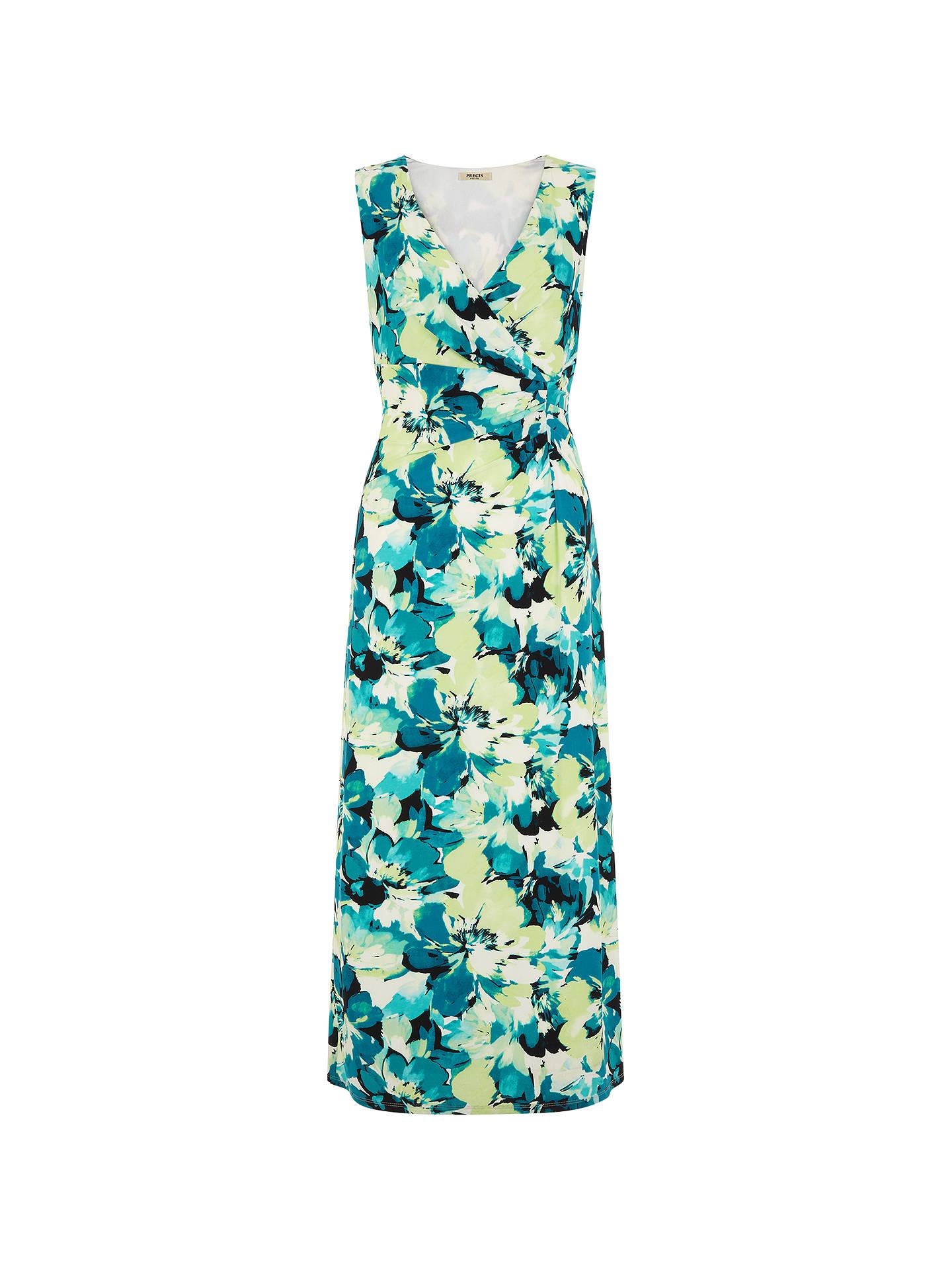 a9d5855b40 Buy Precis Petite Floral V-Neck Maxi Dress, Multi, 6 Online at johnlewis ...