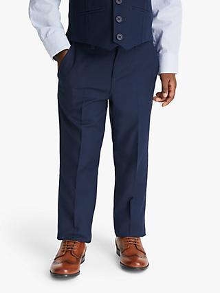 John Lewis & Partners Heirloom Collection Boys' Twill Suit Trousers, Blue