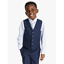 Buy John Lewis Heirloom Collection Boys' Twill Suit Waistcoat, Blue Online at johnlewis.com