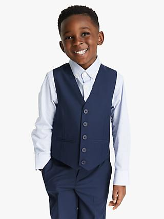 John Lewis & Partners Heirloom Collection Boys' Twill Suit Waistcoat, Blue