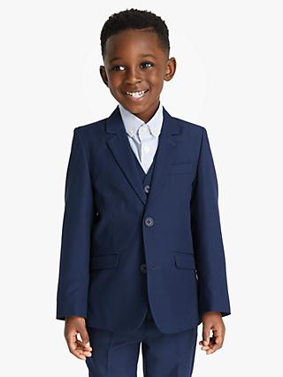 8f39ddbac658d John Lewis & Partners Heirloom Collection Boys' Twill Suit Jacket, Blue