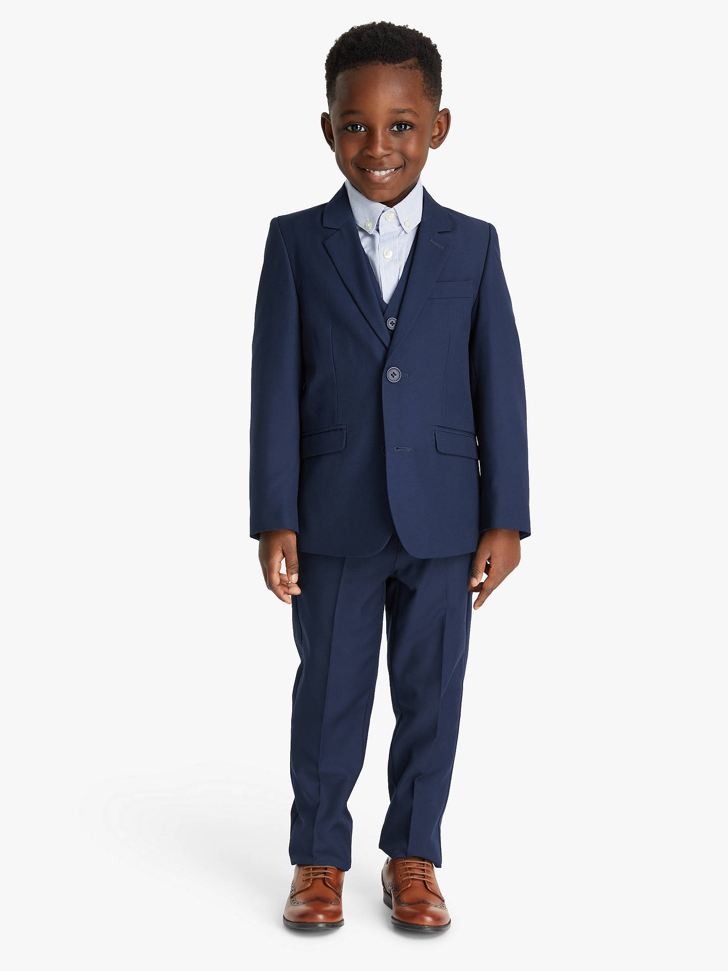 Buy John Lewis & Partners Heirloom Collection Boys' Twill Suit Jacket, Blue, 2 years Online at johnlewis.com