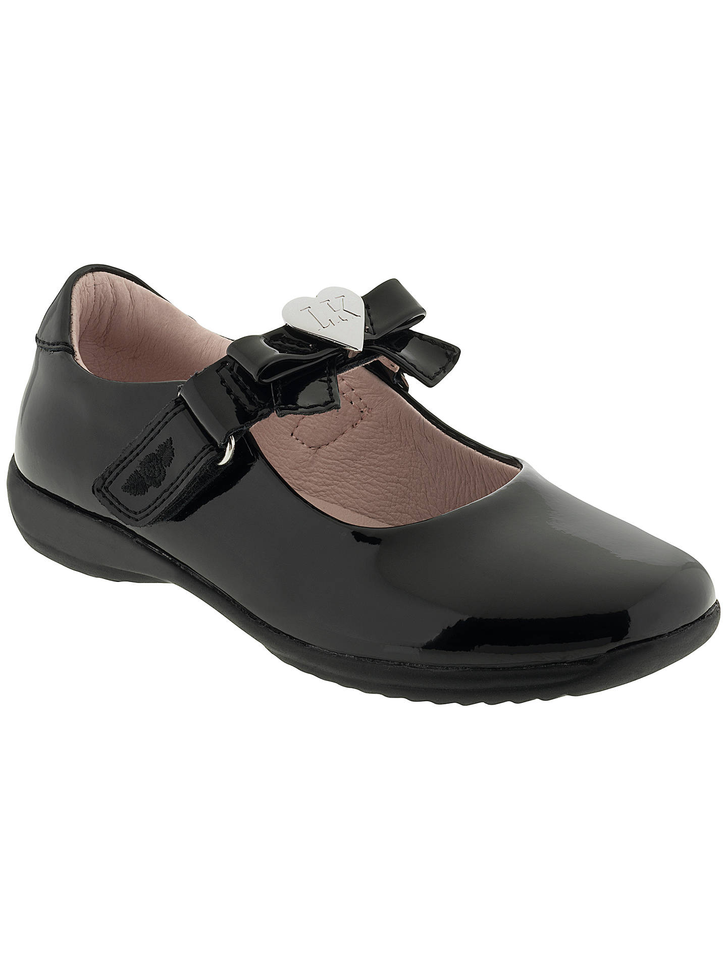retail prices how to buy best quality Lelli Kelly Children's Patent Rachel Rip-Tape School Shoes, Black ...