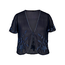 Buy Chesca Allover Bead Bolero, Navy/Lilac Online at johnlewis.com