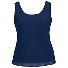 Buy Chesca Chiffon Camisole, Navy Online at johnlewis.com