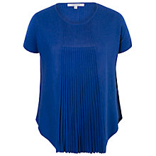 Buy Chesca Short Sleeve Flared Top, Royal Blue Online at johnlewis.com