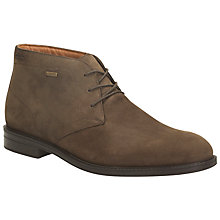 Buy Clarks Chilver Hi GTX Waterproof Chukka Boots, Dark Brown Online at johnlewis.com