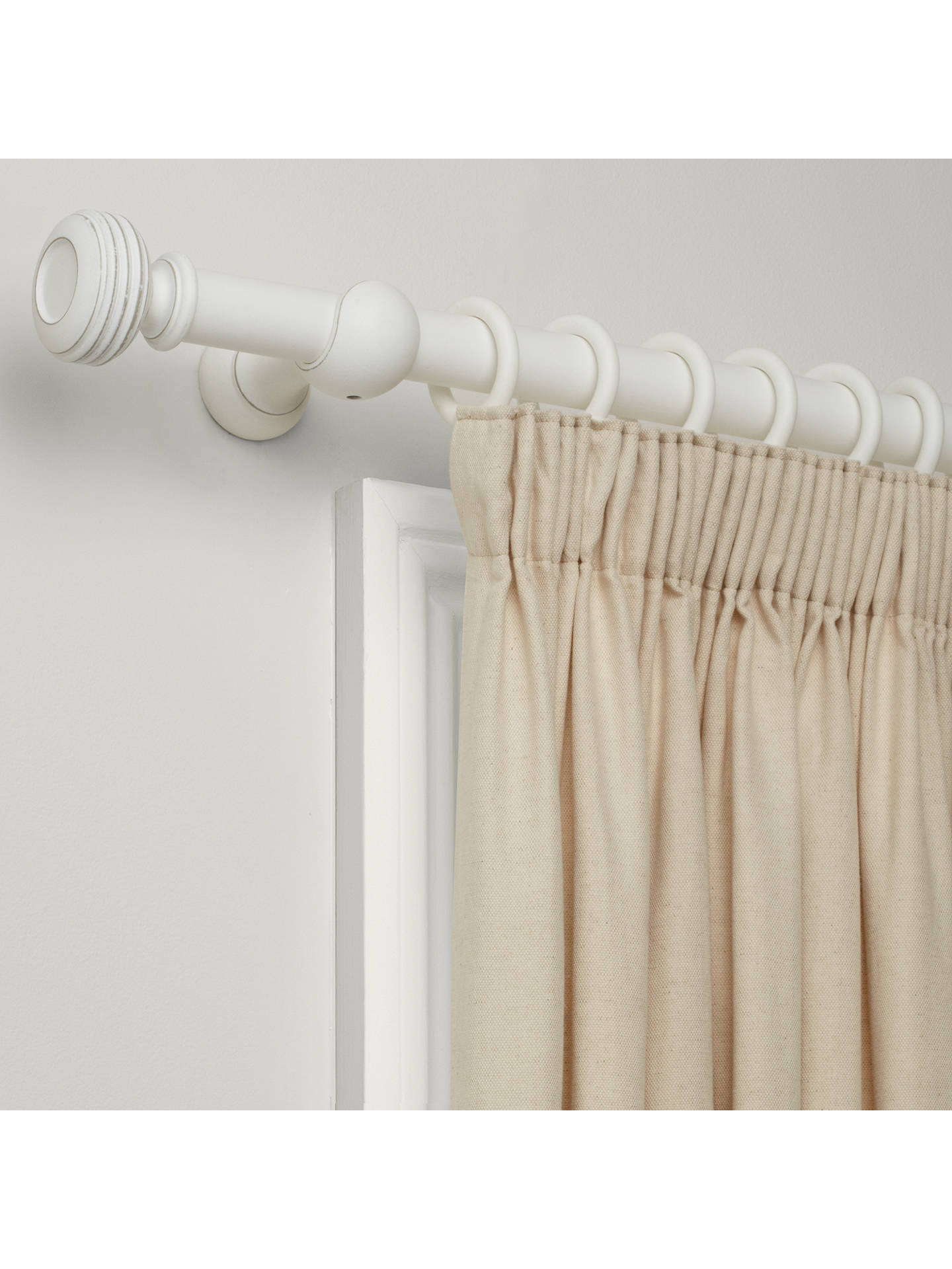 Buy John Lewis & Partners Distressed Curtain Pole Kit, White, Dia.35mm x L150cm Online at johnlewis.com