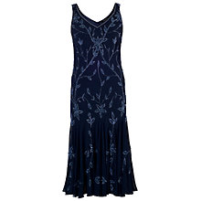 Buy Chesca Allover Bead Dress, Navy/Lilac Online at johnlewis.com