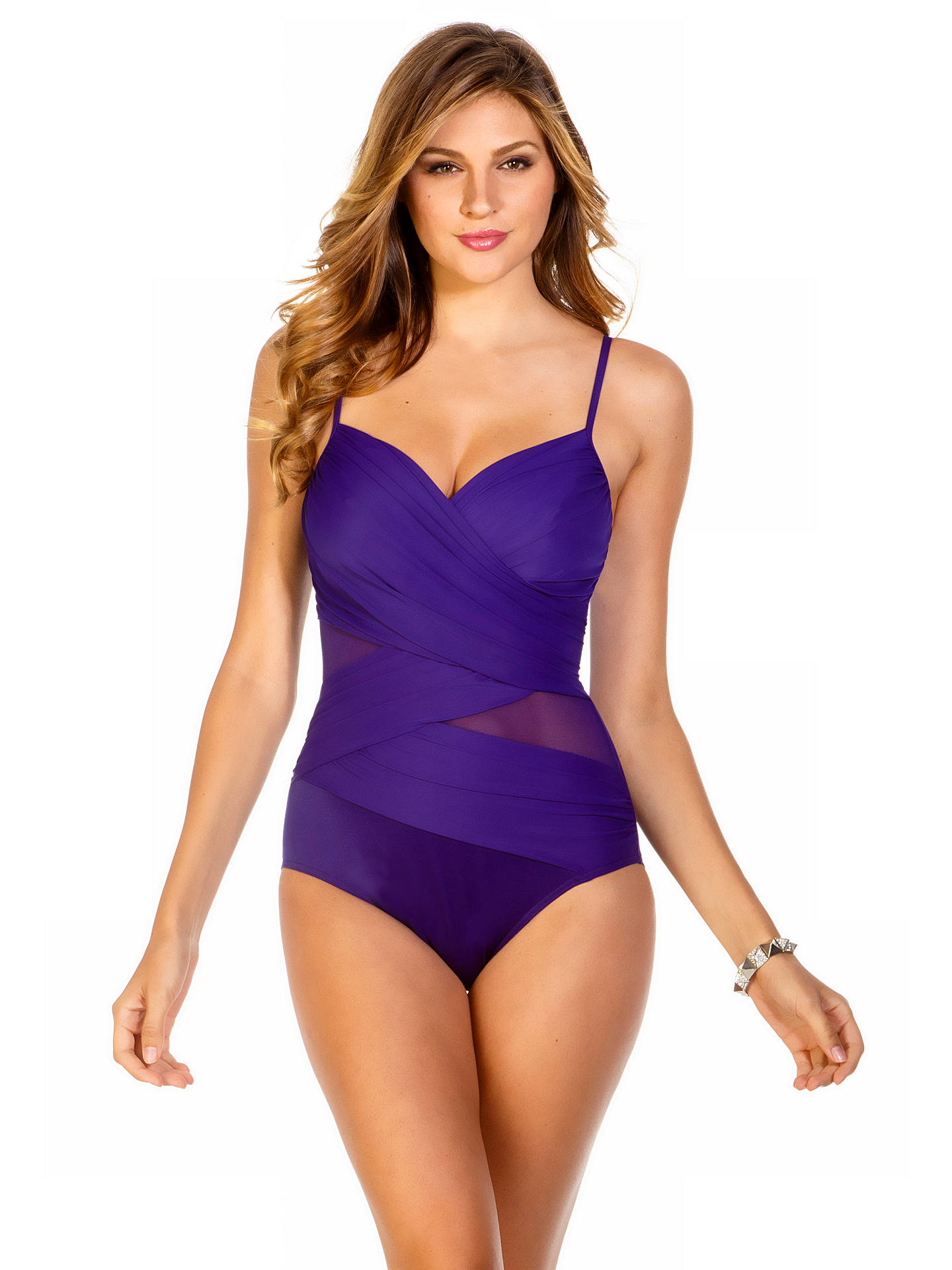 35adb6215df Miraclesuit Mystify Underwired Shaping Swimsuit, Purple at John ...