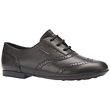 Buy Geox Jazz Brogue Shoes, Black Online at johnlewis.com