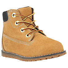 "Buy Timberland Children's Pokey Pine 6"" Boots, Wheat Online at johnlewis.com"