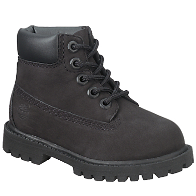 Image of Timberland Children's Waterproof Nubuck Leather Boots, Black