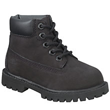 Buy Timberland Children's Waterproof Nubuck Leather Boots, Black Online at johnlewis.com