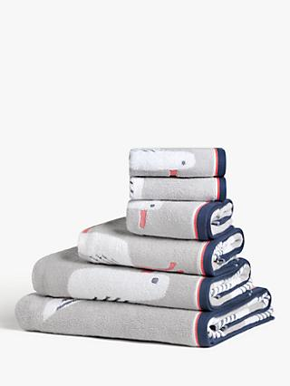 John Lewis & Partners Cheeky Gull Towels, Grey