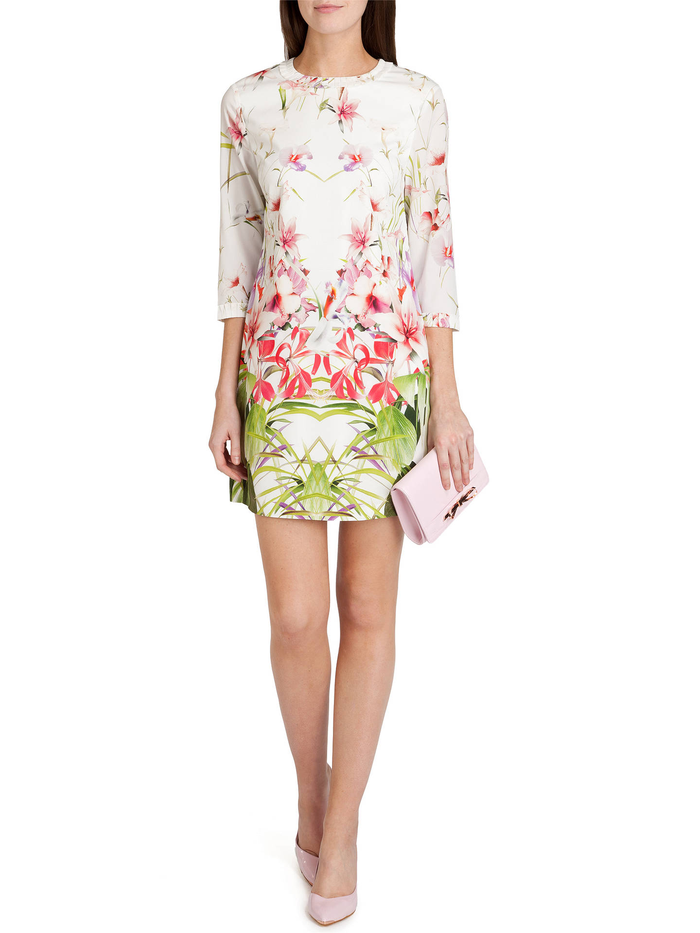 8e35e9253b7 Buy Ted Baker Oletta Mirrored Tropics Tunic Dress, Ivory, 6 Online at  johnlewis.