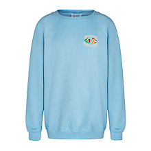 Buy The Hertfordshire and Essex High School Girls' Sweatshirt, Sky Blue Online at johnlewis.com