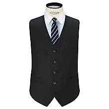 Buy Hackett London 110s Sharkskin Super Wool Waistcoat, Charcoal Online at johnlewis.com