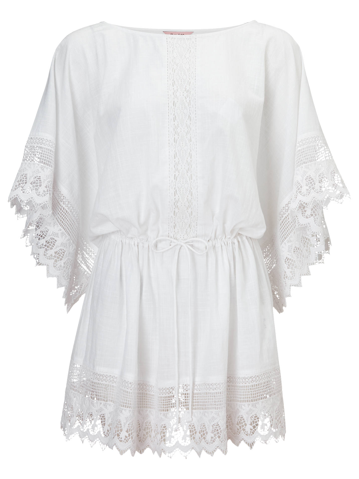 722de0d83136 BuyPhase Eight Calista Kaftan Dress, White, S Online at johnlewis.com ...